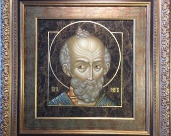 The Icon Of St. Nicholas. Exclusive/Икона Св. Николай. Эксклюзив