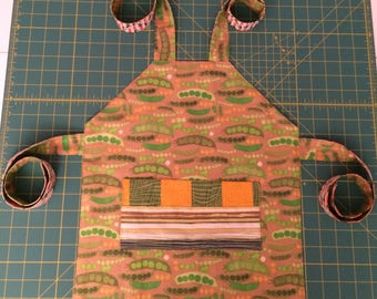 Peas and Carrots - Small Child's Apron