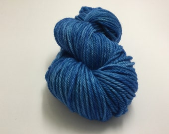 Cloudwatcher's blues - one skein of worsted/10 ply yarn in my Cloudwatcher's blues colourway