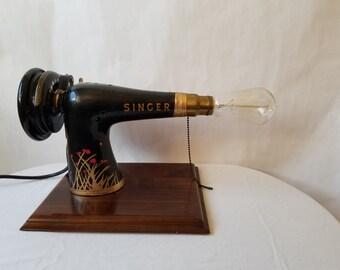 Vintage Singer Lamp