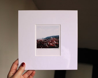 The View From Prague Castle Mounted Photograph Print