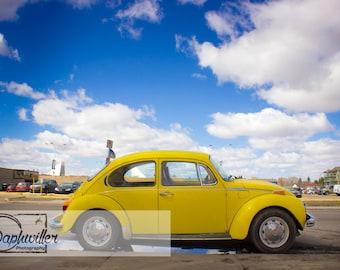 Yellow Punch Buggy in Saskatoon, Saskatchewan