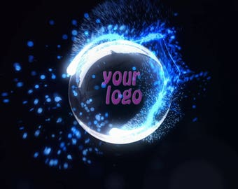 End screen video intro or outro, Energy flows, logo