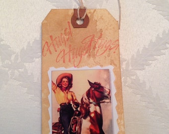 Cowgirl Gift Tag