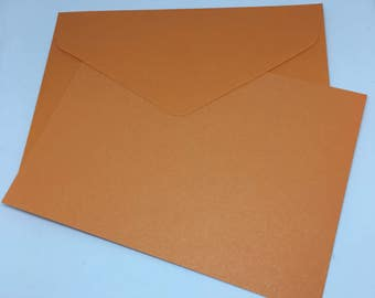 Orange Envelope and Flatcard set  / Card Stock  / Card Making  / Paper Stock / Orange envelopes / Orange Flatcards / notes