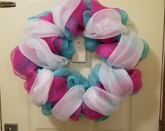 Large Wreath, single, double, or tri-color