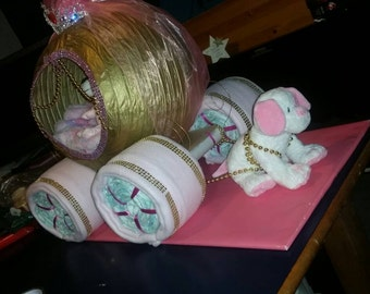 Princess Carriage Nappy/Baby Gift (COLLECTION ONLY)