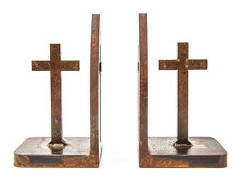 Book Ends- Calvary Cross