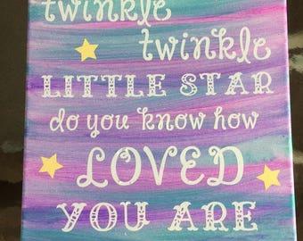 Twinkle Twinkle Little Star... canvas 11x14