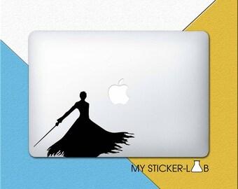 Bleach Ichigo MacBook Decal Bleach MacBook Sticker Ichigo Bleach MacBook Decal Ichigo MacBook Sticker Ichigo Bankai Silhouette Shadow m1002
