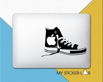 Converse Shoes MacBook Decal Shoe MacBook Sticker Converse Shoe Sticker Converse Shoe Apple Logo Vinyl Decal Chucks Top Sneakers m030