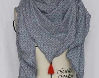 Headscarf mid-season customizable PomPoms handmade French confection