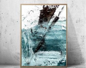 Minimaliste, peinture, Art mural abstrait, Printable Wall Art, scandinave moderne, Fine Art Print, noir et blanc Minimal Art, peinture mural
