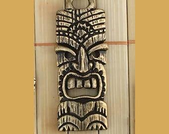 Tiki Mask Pendant - Antique Bronze Plated