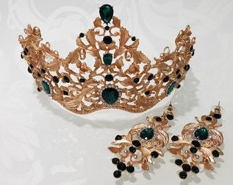Crown with earrings