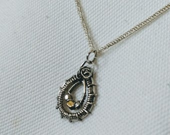 Mini Princess/ Sterling silver beads brass necklace chain handcrafted