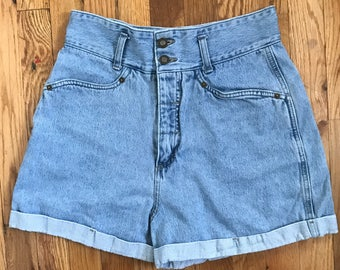 Vintage 90s High Waisted Jean Shorts by Express Tricot