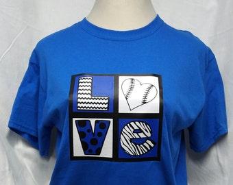 Love Baseball t shirt-kids