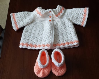 Baby Coat and Booties size 3-6 months