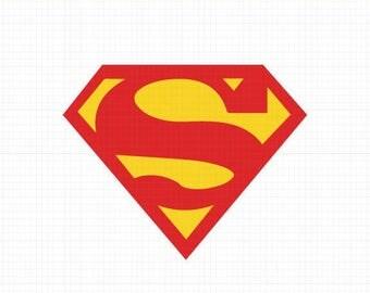 Supeman Svg,Dxf,Eps,Png, Super Heroes SVG Files, Super Hero Cricut Cut File, Superman Logo SVG, Superman Symbol, Instant Download