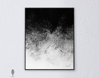 B&W Deaming   Eco-friendly Printable Art Instant Download. Black and White Modern Minimalist Print. Abstract Wall Art Poster.