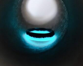 Glow in the dark handmade resin ring