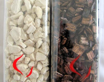 Decorative rocks or planks for 500 ml in box
