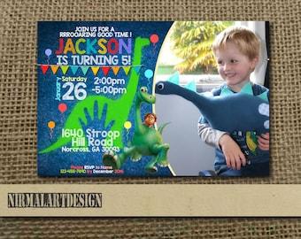 Good Dinosaurus Invitation, Good Dinosaurus Birthday, Good Dinosaurus Party, Good Dinosaurus Card, Good Dinosaurus Printable, Dinosaur_BS047