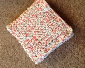 Crochet chenille baby blanket