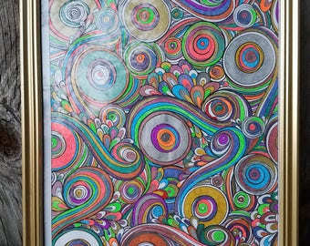 Swirling Rainbow Picture