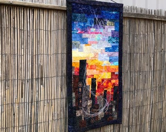 Quilt, Wall Hanging, Textile Art - Reach for the Sky