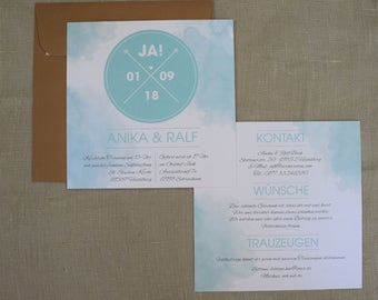 "Wedding invitation card ""Mint"""