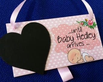 Personalised Baby Countdown Chalkboard