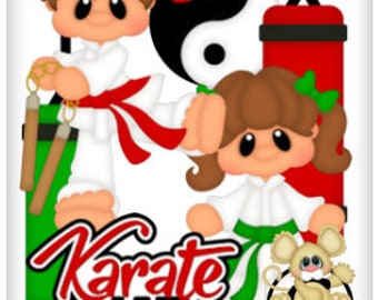 Karate Collection, vector graphics, digital clipart, digital images, scrapbooking, instant download