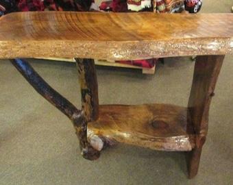 Sofa Table, Entryway Table, Hall way Table, Rustic Sofa tabla, Log table, Log Sofa Table