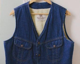 Vintage Women's Jean Jacket Size L