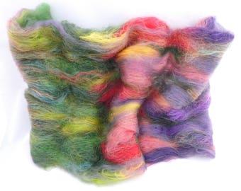 Art Batt, carded art batt, hand carded spinning batt, Wool batt, Spinning batt, spinning fibre