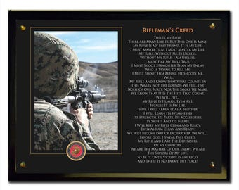 Rifleman's Creed Plaque