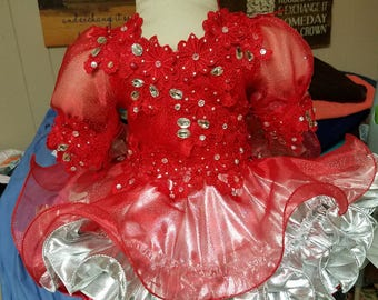 Custom made pageant dress, ready to ship. Make your little one shine.