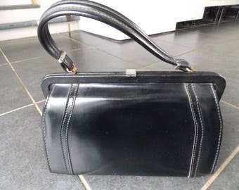 Vintage French Black Handbag