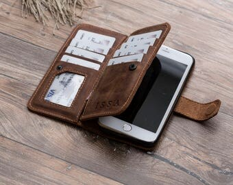 Leather iPhone 7 Wallet Case, iPhone 7 Case, iPhone 7 Leather Wallet Case, iPhone 7 Leather Case, Fathers Day Gift, iphone 7 #PAKHET PLUS