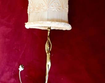 Bronze and Alabaster Art Deco Lamp