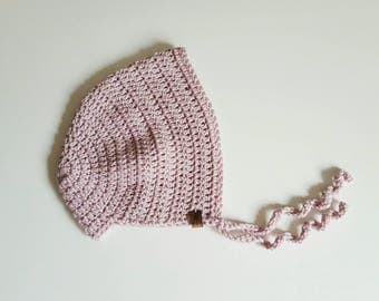 Crochet Bonnet | Cashmere | 6-12 Months