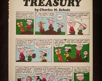 Peanuts Treasury Charles M Schulz 1968 Hardcover First Edition Comic