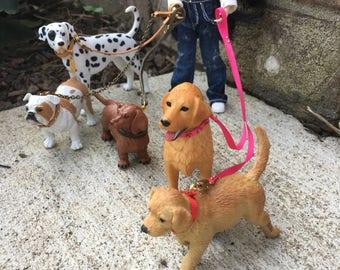 1:12 Miniature Dollhouse Dog Collar and Leash Handmade