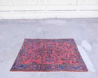 """Antique Persian Lilihan //007 - 3'7""""x4'5"""""""