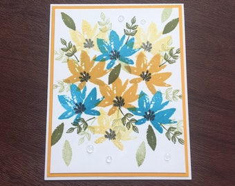 Handmade Card using Stampin up Avant Garden