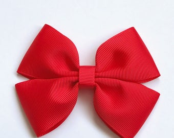 Bright Red Colour Hair Bow