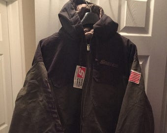 Brand New Snap-On Jacket with hoodie