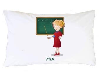 Personalized Pillowcases, Teacher Pillowcase, Custom Pillowcase, Personalized Pillow case for girls who love teaching, Best Birthday Gift